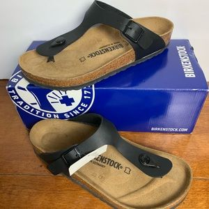 Birkenstocks black size 39 new